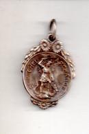 REF M2  : Médaille Pendentif Le Mont Saint St Michel Métal Argenté 21 Mm - Autres