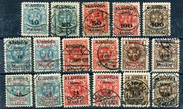 MEMEL (Lithuanian Occ) 1923 (Feb) Overprinted Sets Used. Michel 124-40 - Klaïpeda