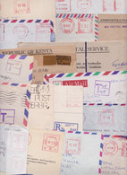 KENYA KUT - Lot De 113 Enveloppes Commerciales Affranchissement Machine EMA Taxe Port Payé Stampless Air Mail Cover Tax - Kenya (1963-...)