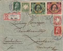 Allemagne Bavière Lettre Recommandée Augsburg 1911 - Lettres & Documents
