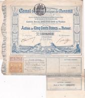 CANAL INTEROCEANIQUE DE PANAMA  1880 - Wasser
