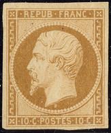 * No 9, Bistre-jaune, Quasiment **, Superbe. - RRR (cote Yvert : 47000 €) - 1852 Luis-Napoléon