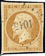 No 9, Obl Pc 1015. - TB (cote Yvert : 850 €) - 1852 Luis-Napoléon