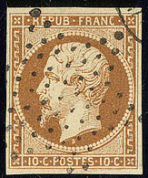 No 9a, Bistre-brun, Nuance Foncée, Obl étoile, Petites Marges Mais TB (cote Yvert : 950 €) - 1852 Luis-Napoléon