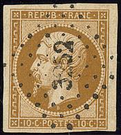 No 9d, Bistre-brun Foncé, Obl Pc 3252. - TB (cote Yvert : 1300 €) - 1852 Louis-Napoleon