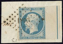 Filet D'encadrement. No 10b, Bdf, Obl Pc 1803 Sur Petit Fragment. - TB. - R (cote Yvert : 1800 €) - 1852 Luis-Napoléon