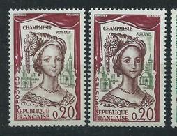 [41] Variété : N° 1301 Roxane Visage Dépouillée + Normal ** - Varieties: 1960-69 Mint/hinged