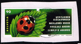 Schweiz 2002,Michel# 1806 + ZF O - Gebraucht