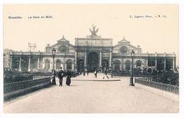 CPA : BRUXELLES  Gare Du Midi - Ferrovie, Stazioni