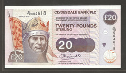 Ecosse, 20 British Pounds Sterling, 1994 - 20 Pounds