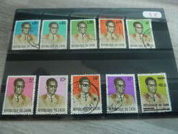 Zaire - Série Personnage Président Mobutu - Année 1971 - - 1971-79: Gebraucht