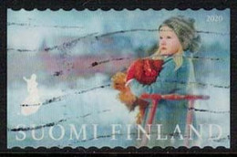 2020 Finland, Girl With Snowmobile, Used. - Gebruikt