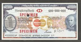 Thomas Cook Traveler's Checks, 1000 Hong Kong Dollars, 1983 - Hong Kong