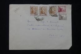 ESPAGNE- Enveloppe De Madrid Pour Paris En 1951 - L 84833 - 1951-60 Cartas