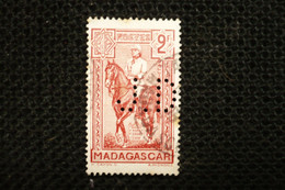 France Madagascar Perfin  Perforé JD3 - Gezähnt (Perforiert/Gezähnt)