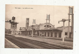 Cp, Chemin De Fer , Les Quais Et La Gare , 62 ,  LENS ,  écrite - Stations Without Trains