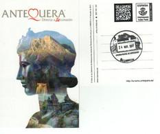 ANTEQUERA-- DOLMENES DE ANTEQUERA -  TARJETA PREFRANQUEADA  TARIFA  A -  Matasellos Turístico Antequera - 1850-1931