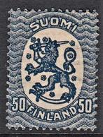FINLANDIA 1917 50p AZZURRO OTTIME CONDIZIONI MLH - Unused Stamps