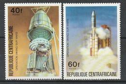 CENTRAFRIQUE - N°265/6 ** (1976) Espace - Repubblica Centroafricana
