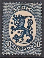 FINLANDIA 1917 50p AZZURRO OTTIME CONDIZIONI MLH (2) - Unused Stamps