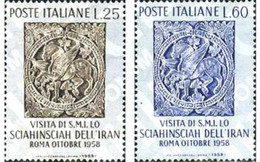 Ref. 130483 * MNH * - ITALY. 1958. VISIT OF IRAN SHAH . VISITA DEL SHAH DE IRAN - Unclassified