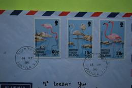 BRITISH VIRGIN ISLAND  Pour FRANCE - Lettre Du 14 May 1996  De Tortola - Affranchissement 3 Timbres Flamands Roses - Andere