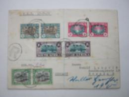 1939 , Einschreiben Mit 4 Paaren  Nach Deutschland - Storia Postale