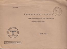 Gd Lettre Pré-imprimée (Der Polizeipräsident ...) De Rombas (T329 Rombach Westm C) En Franchise Le 19/9/42 - Elzas-Lotharingen
