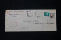 YOUGOSLAVIE - Enveloppe De La Croix Rouge De Belgrade En Recommandé Pour Paris En 1951 - L 84852 - Briefe U. Dokumente
