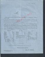 MILITARIA GUERRE 1870 CIRCULAIRE BANQUE GALLET FRERES À VIRE 61 : - Guerre De 1870