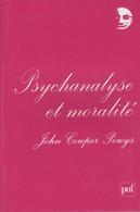 PSYCHANALYSE ET MORALITÉ PAR JOHN COWPER POWYS PUF PERSPECTIVES CRITIQUES 2009 - Psicología/Filosofía