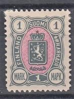 FINLANDIA 1889-95  1 MARK GRIGIO ROSA  OTTIME CONDIZIONI MLH - Unused Stamps