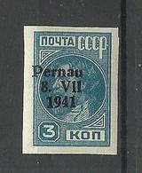 ESTLAND Estonia 1941 Michel 3 B Pernau Pärnu * German Occupation WW II - Occupation 1938-45