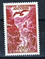 Andorre Française PA 3 1/4 De Cote Neuf ** TB MNH Sin Charnela Cote 37 - Poste Aérienne