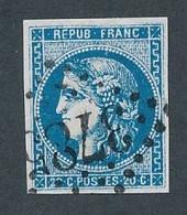 DX-265: FRANCE: Lot Avec N° 46Ab Obl GC 3785 Signé Calves, TB - 1870 Uitgave Van Bordeaux