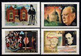 Antigua 1974, Scott 349-352, MNH, Churchill, Map, Coat Of Arms - Antigua Et Barbuda (1981-...)