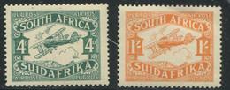 AFRIQUE DU SUD - PA N° 5 & 6 - BIPLAN - TOUS * * - LUXE - Posta Aerea