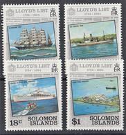 ISOLE SALOMONE SOLOMOM IS. 1984  250° LLOYD'S SG519/22 SET  MNH** - Solomoneilanden (1978-...)