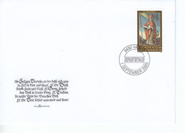 Liechtenstein FDC  1326-1329 Nothelfer Katalog 9,00 - Gebruikt