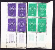 N° 1218 à 1219 Europa 1959: Belle Série En  Blocs De 4 Timbres  Neuf Impeccable - Ongebruikt