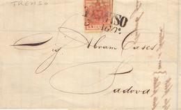 1865 Piego Con Testo Lombardo Veneto Da 15c Da Treviso  Per Padova - Lombardo-Vénétie