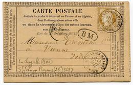 RC 19692 FRANCE N° 55 OBL ST JEAN EN ROYAN / DROME + BM = LA CHAPELLE POUR VIENNE EN ISERE TB - 1849-1876: Klassieke Periode