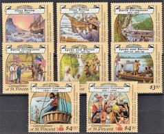 ST. VINCENT E GRENADINE 1988  EXPLORERS SG564/71 SET  MNH** - St.Vincent Y Las Granadinas