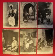 1916-1918 Tunisie 23 Cpa Métiers & Scènes Gros Plans Vient D'un Ancien Du 125 RIT éditeur Divers Dos Scanné - Tunisia