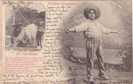 "37.RESTIGNE ( ENVOYE DE). CPA. VIEILLE CHANSON "" LES BOEUFS"". ANNEE 1902 + TEXTE. - Elevage"