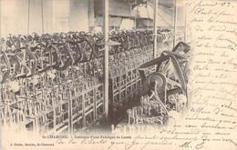 42 LOIRE Industrie Textile La Fabrication Des Lacets à St CHAMOND Intérieur Des Ateliers D'une Usine Carte Précurseur - Saint Chamond