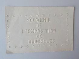 1958 Expo Carte En Braille Souvenir De L' Exposition De Bruxelles Oeuvre Nationale Des Aveugles - Wereldtentoonstellingen