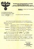 """DRESDEN 1938 Rechnung Deko """" Reichsadler Auf GILDE Vesicherungs-AG Goethestr.6 """" - Banco & Caja De Ahorros"""