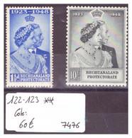 BECHUANALAND - No Michel 122-123 ** ( SANS CHARNIERE )    -     COTE: 60 € - 1885-1964 Protectorado De Bechuanaland