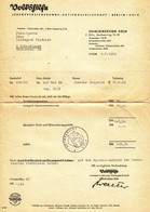 "Köln Und Berlin 1962 Rechnung "" VOLKSHILFE Lebensversicherungs-AG Filiale Köln Sachsenring 91-99"" - Banco & Caja De Ahorros"